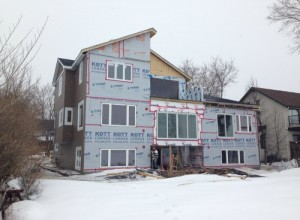 House addition in progress